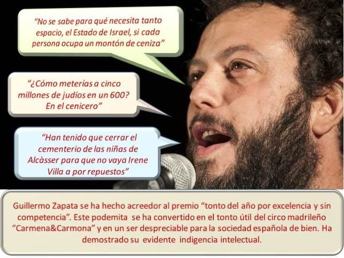 """Zapata, el podemita e indigente intelectual del circo """"Carmena&Carmona"""""""