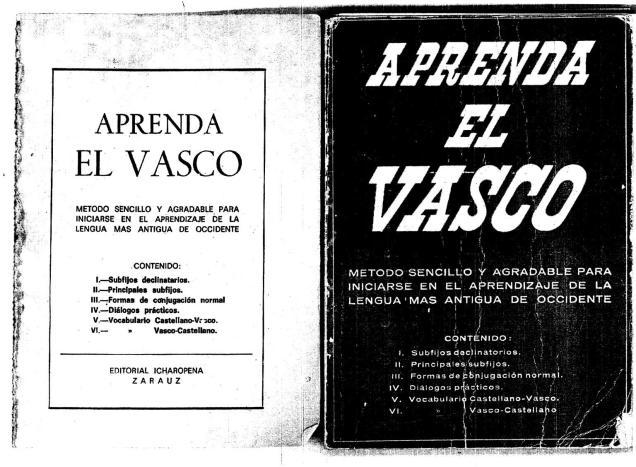 Ésta es una d elas muchas pruebas de cómo Francisco Franco no prohibió el estudio del Euskera.