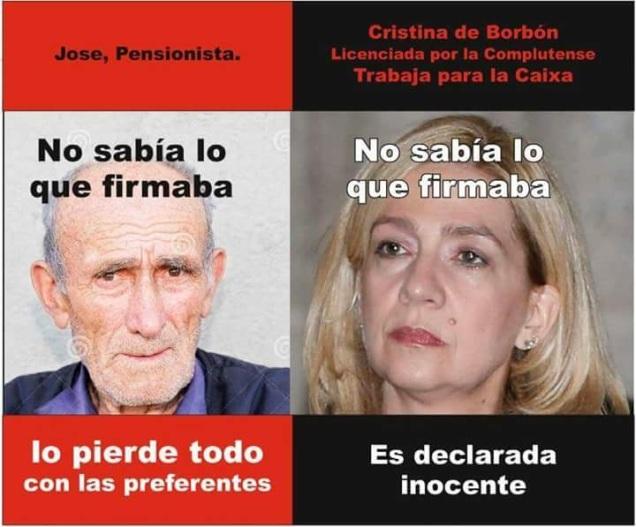 A la vista del 'meme', ¿alguien está seguro d ela igualdad de los españoles ante la ley?
